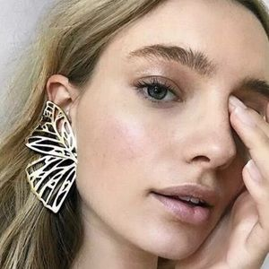 🆕 Silver Butterfly Wing Earrings